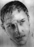 Tom Hardy's portrait by ogaothin