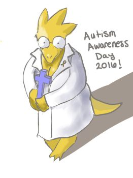 Alphys Celebrates Autism Awareness Day by FourEwe
