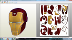 MvC3 Iron Man Helmet Papercraft by JohnnyMuffintop
