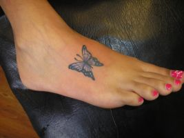 butterfly foot .daughter. by welcometoreality