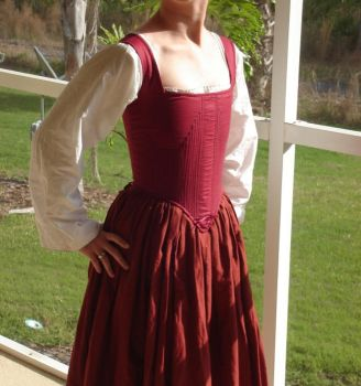 Hand Sewn 16th Century Corset3 by CenturiesSewing