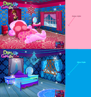 Frozen style bedrooms. by Smurfette123