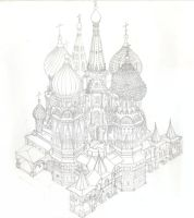 St Basil's Cathedral, Moscow by dama1234