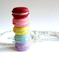 French Macaron Necklaces by FatallyFeminine