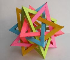 Five Intersecting Tetrahedrons by banjowells