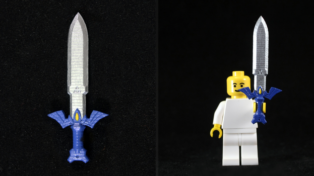 LEGO 3D Printed Painted Toon Master Sword by mingles