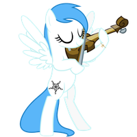 Angel Wings playing the violin by Radiant--Eclipse