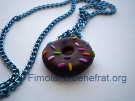 Chocolate Donut by Shatya