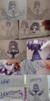 Drawing process - Marionette by W-i-s-s-l-e-r