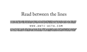 Anti ACTA wallpaper 2 by IFM-Store