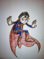 Superman Rough Sketch by pascalscribbles