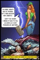 Sylvia borrowed Mjolnir from Thor by SylviaShadow