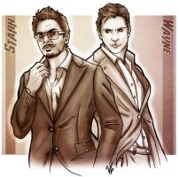 Stark and Wayne - Billionaire Boys Club by VoydKessler