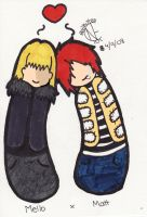 Mello x Matt by evilkitten101
