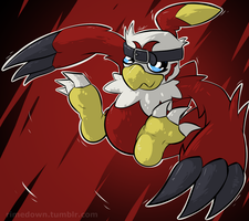 Hawkmon - Day 1091 by Seracfrost
