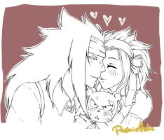Squishy Lily kiss *Gajeel x Levy week* by PastrieCake