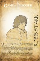 Robb Stark Game of Thrones by H3IR