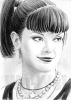 Abby from NCIS mini portrait by whu-wei