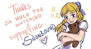 Snowbound - Thank You! by hythrain