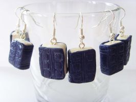 River Song's Diary Journal Earrings x3 by tyney123