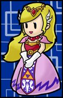 Super Paper Princess Zelda by squeezycheesecake