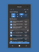 Windows 10 Redstone Mobile Action Center by lukeled