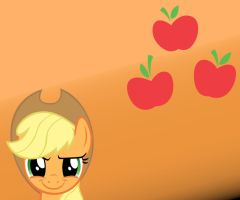 Applejack (small) Wallpaper with Cutie Mark by Apple-Jack1000