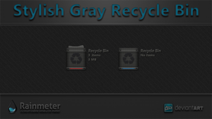 Stylish Gray Recycle Bin by WwGallery