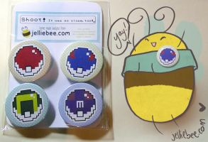 Pokeball Buttons by ditto9