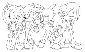 The Sonic Crew by SikyuSonic