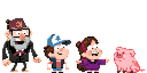 The Pines Family (Gravity Falls) by zerobyte
