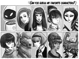 My Favorite Characters-females by Armadria