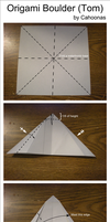 Origami Rock (Tom) Diagram by Cahoonas