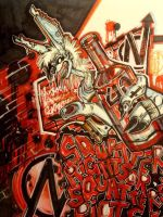 Squatters riots. by shoot-up