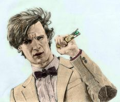 Eleventh Doctor +Colour by The-Ribboned-One
