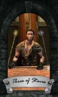 Skyrim Tarot - Three of Staves by Whisper292