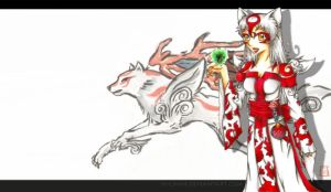 OKAMI Amaterasu and Issun WP by SS-Chan