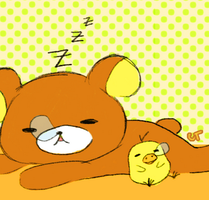 Rilakkuma and Kiiroitori C: by Naiconiku