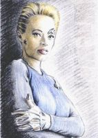 Jeri Ryan miniature by whu-wei