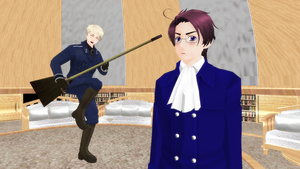 [MMD] Prussia and his broom guitar [Video] by PikaBlaze