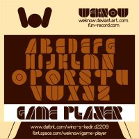 Game Player font by weknow by weknow