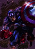 Captian America comic colors by DeonN