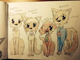 VenturianTale as cats! (Fanart 1) by Tinyclawthecat