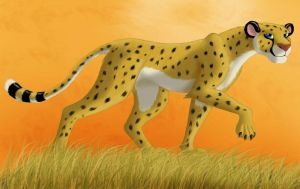 Cheetah at sunset by Darkheart1987