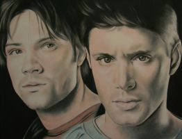 Sam and Dean - Supernatural by LianneC