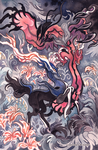 Xerneas and Yveltal by creepyfish