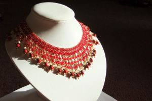 Royal Red and Gold Collar by SRTolton