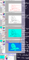 Tutorial - flat colouring, lineart and BG in SAI by Rattenmutter