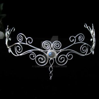 Celtic Spiral Headpiece by camias