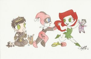 Gotham Girls Babies by AmberStoneArt